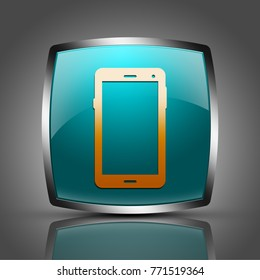"""Mobile button isolated . """"3d illustration"""""""