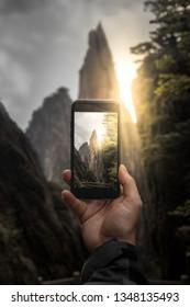 Mobile Capture / Epic sunset / China / Peak