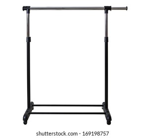 Mobile Clothes Racks Garment Rails isolated on white background