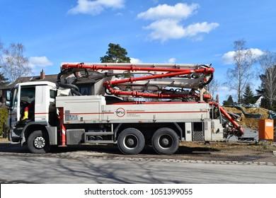 Concrete Pump Truck Images, Stock Photos & Vectors