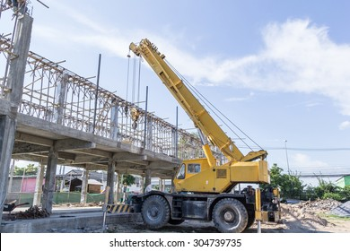Mobile crane on Construction site