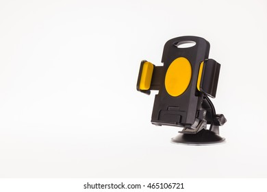 mobile device in car on white background