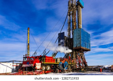 mobile drilling rig oil production well construction