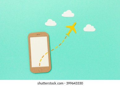 Mobile flight vacation booking app concept