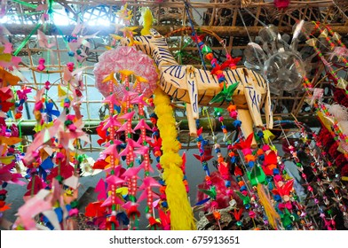 Mobile Hanging garland of religious ceremony philanthropy in Thai tradition
