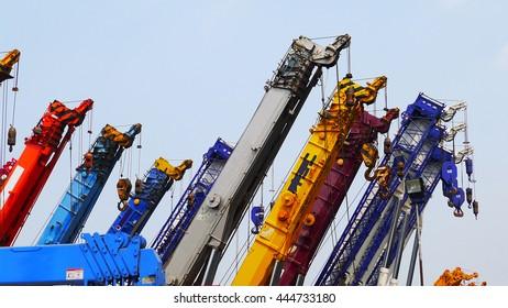 Mobile hydraulic cranes,Thailand