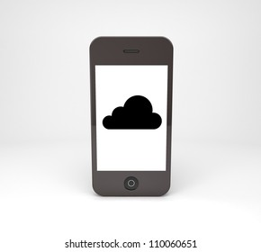 mobile phone with black cloud