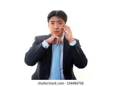 Mobile phone and business man