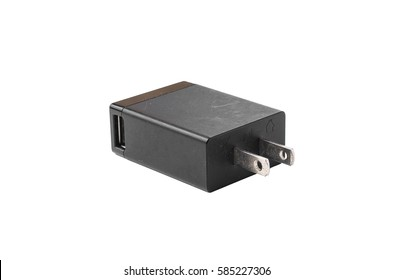 mobile phone charger isolated on white background