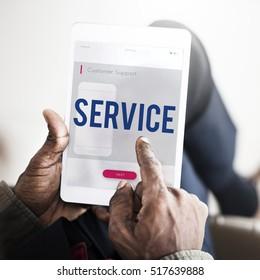 Mobile Phone Customer Service Concept