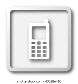 Mobile phone icon. Internet button on white background.