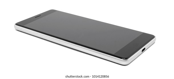 Mobile phone isolated on white background with Clipping path.
