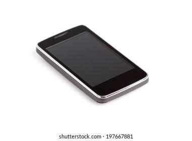 Mobile phone isolated on white bakcground.