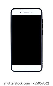 Mobile phone on white background for technology concept