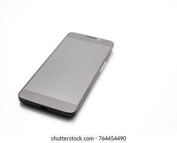 Mobile phone on white background