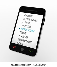 Mobile phone or PDA Application concept