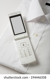 Mobile phone and shirt