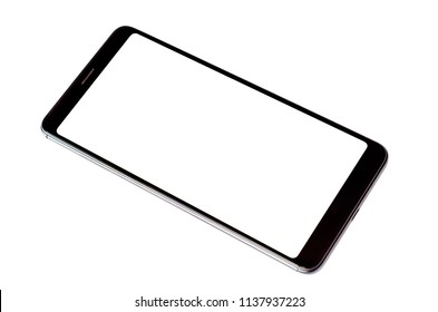 Mobile phone white background.