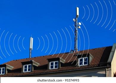 Teléfonos móviles Antenas con círculos