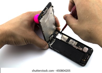 Mobile repair In the process Change iphone 5 screen