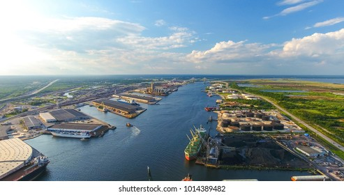 Mobile River and the Port of Mobile, Alabama