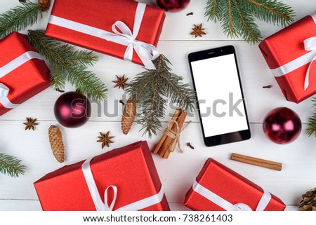 Mobile Smart Phone Blank Screen App Stock Photo (Edit Now) 738261403 ...