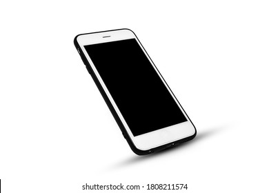 Mobile smart phone on white background technology(Concept,telephone,mobile phone,smartphone,cell phone)