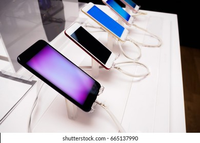 mobile smartphone in store