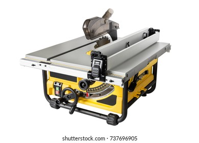 Mobile table saw with adjustable height and level of blade