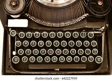 Mobile vintage type writer