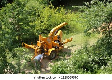 Wood Shredder Images, Stock Photos & Vectors | Shutterstock