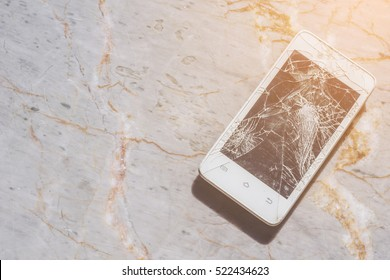 Mobile/Cell phone was fall down, the screen is cracked.