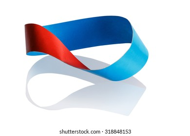 Mobius strip - has only one face. A line drawn in pencil on the surface will move to the other side and is connected to its beginning.