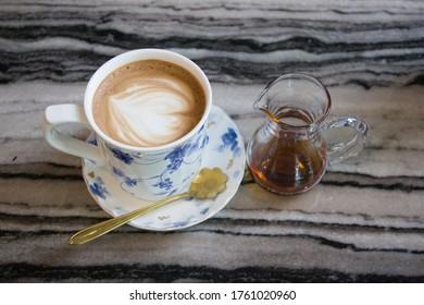 ็็Hot Moccha coffee with honey