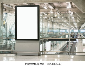 Mock up Billboard Banner template Airport Modern Building Media Advertisement