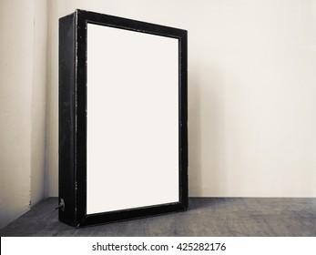 Mock up Billboard Light box Black frame Indoor Media technology