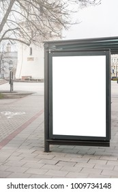 Mock up Billboard Light box at Bus Shelter outdoor street