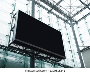 Mock up Billboard Stand Media Advertising display Modern Building Exterior