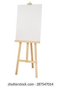 Mock up Canvas Painting stand wooden easel Art supply isolated