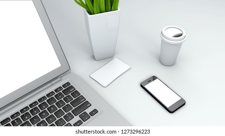 mock up devices in interior