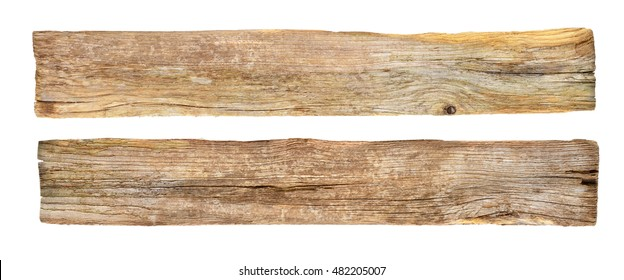 Mock up of empty rustic wooden signboard isolated on white background. Beach sign.