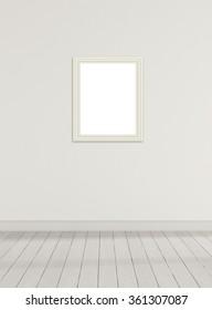 Mock up Frame blank in the room.