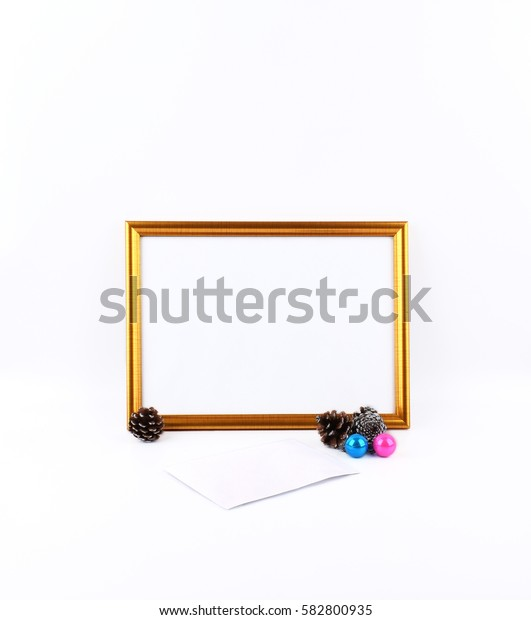 Mock up objects isolated on a white background with copy space, front view.