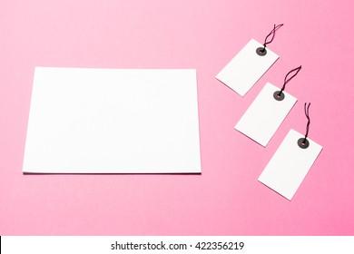 Mock up on pink background