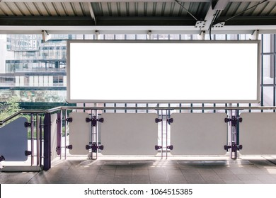 Mock up posters template Ads long display in public station. Clipping path included.