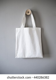 Mock up Tote bag eco hipster white cotton fabric Shopping bag