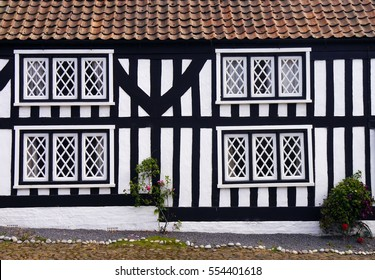 Mock Tudor house in English rural village.