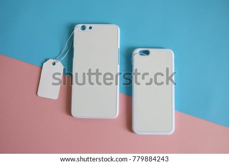 Mock Two Clear Phone Case White Stock Photo Edit Now 779884243