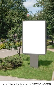 Mock up. Blank billboard outdoors, outdoor advertising, public information board in the city