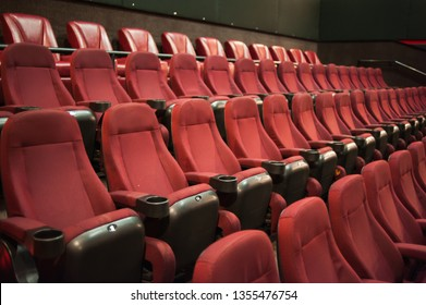 Mock up. Cinema. Part of a theatre, or similar building, where the people who are watching and listening sit